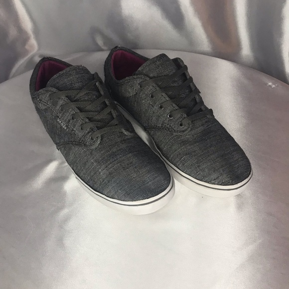 Vans Off The Wall Gray & Purple 721356 Size 8.5